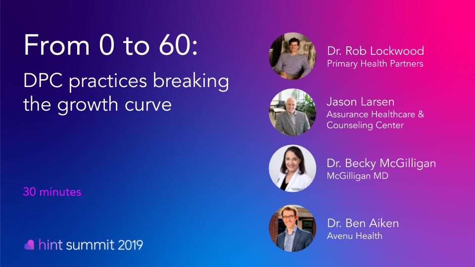 See Dr. Robert Lockwood at Hint Summit 2019