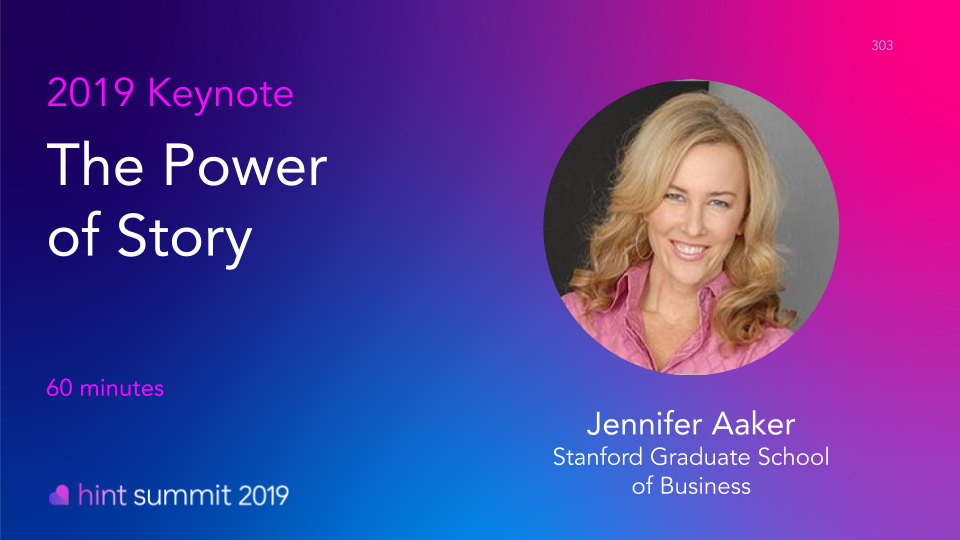 Hint Summit 2019 Keynote Speaker: Jennifer Aaker