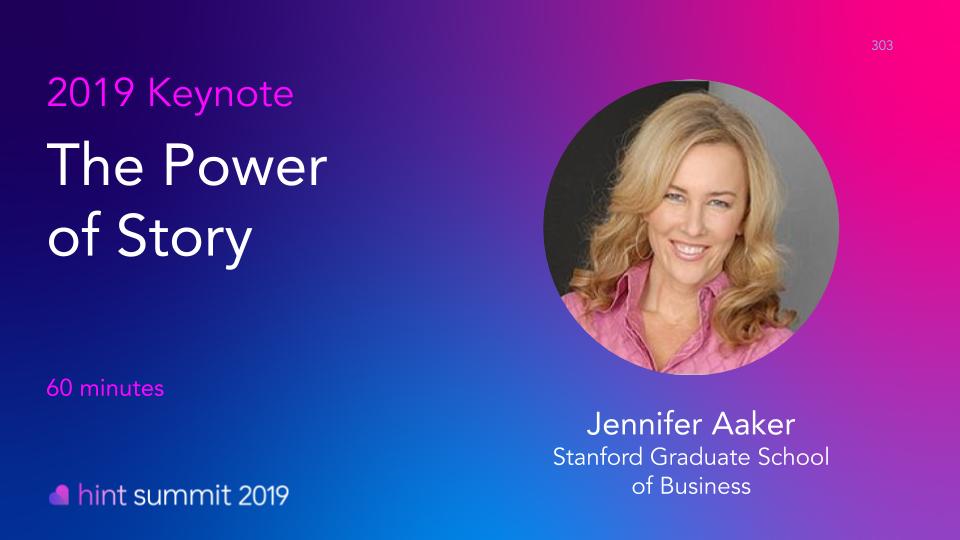 Hint Summit 2019 Keynote Speaker: Jennifer Aaker