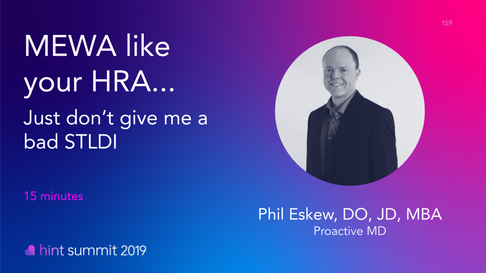 See Dr. Philip Eskew at Hint Summit 2019