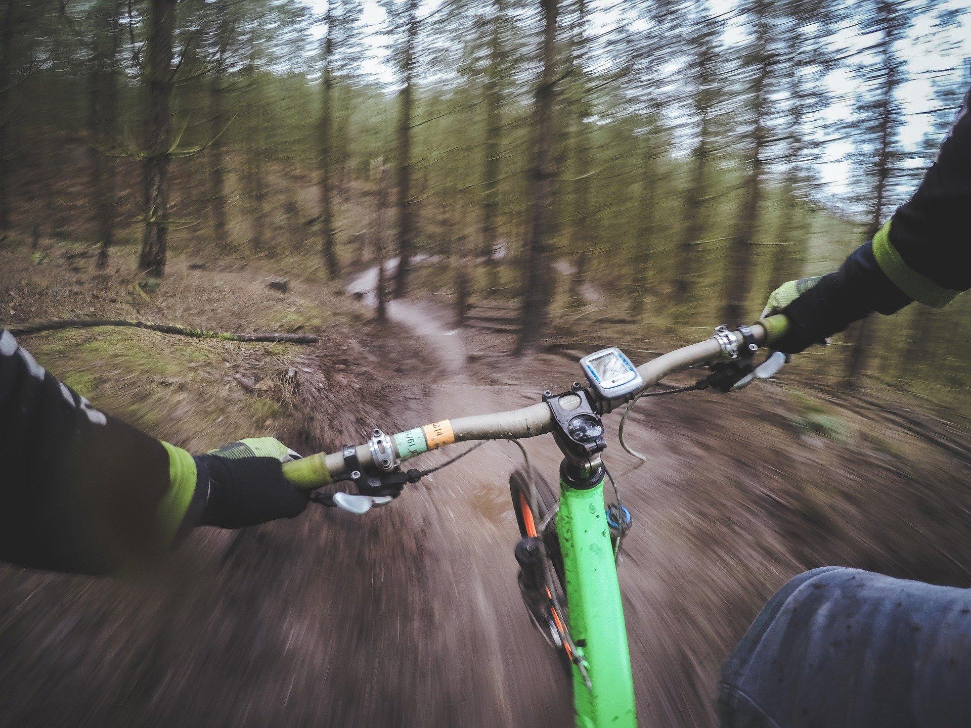 mountain biking downhill