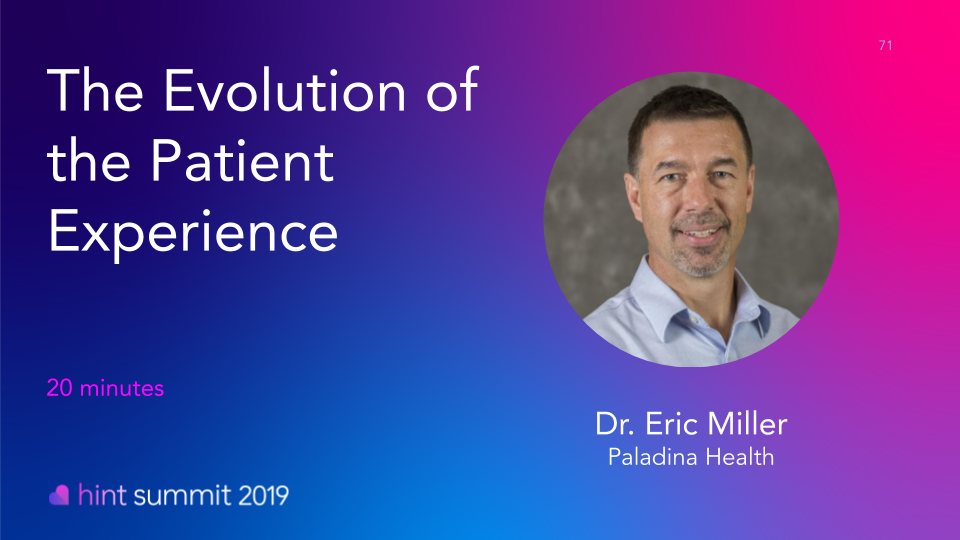 See Dr. Eric Miller at Hint Summit 2019