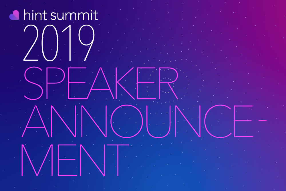 See Becky McGilligan at Hint Summit 2019