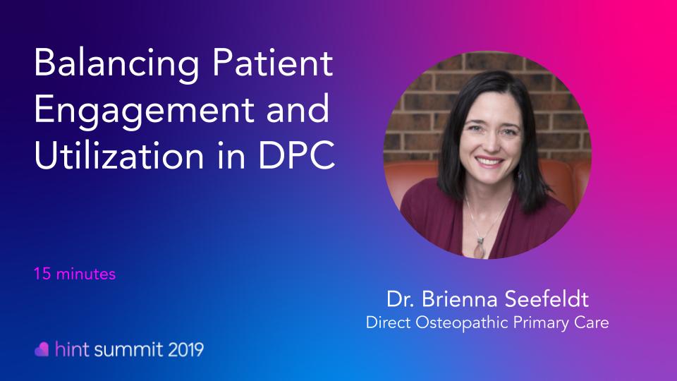 See Dr. Brieanna Seefeldt at Hint Summit 2019